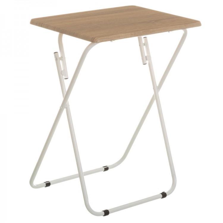 Mesa plegable marrón y blanca para cocina 47x37x,50x65 cm - Hogar y más