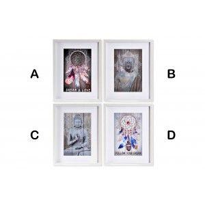 Cuadro Acrílico con Diseño de Atrapasueños/Buda, 4 Modelos a elegir. Original/Étnico 35X2,2X45 cm.-Hogarymas-