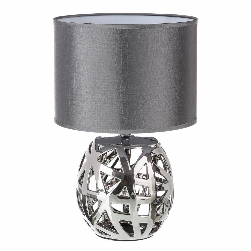 Table lamp silver ceramic 23x23x35 cm, Home and More