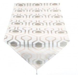 Camino de Mesa Gris con Diseño en formas Geométricas. Decoración de Mesa Elegante/Original 50X150 cm.-Hogarymas-