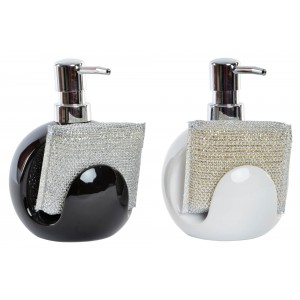 Dispenser Soap for Kitchen made in Dolomite, with support for Sponge/Loofah. Minimalist design - Home and More