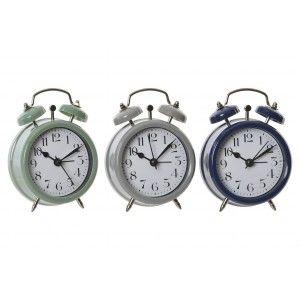 Reloj Despertador Analógico, con Campana. Diseño Vintage, con estilo Bassic (9cm X 12cm X 4cm) - Hogar y Más