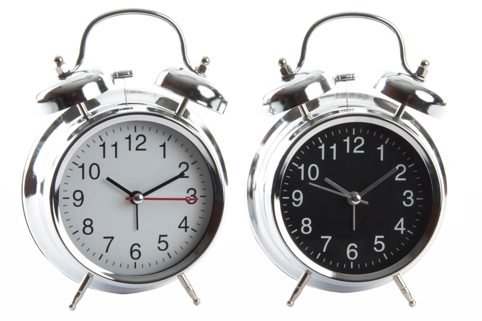Reloj Despertador Analógico, realizado en Metal, con Campana. Diseño Vintage, con estilo Retro (12cm X 17cm X 6cm) - Hogar y Más