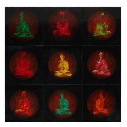 Box wood buddha
