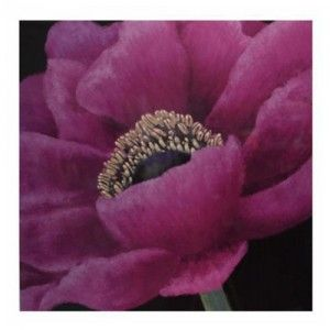 Cuadro de madera flor color lila