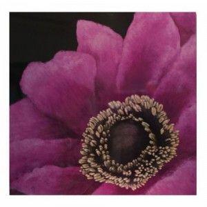 Cuadro en madera de flor color lila