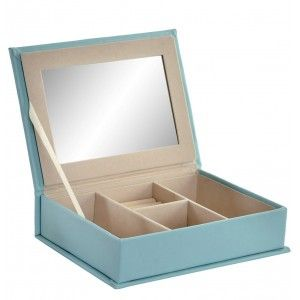 Jewellery box with Mirror, 2 Models to choose from Pink or Blue. Original/Modern 25X18X6 cm-Hogarymas-