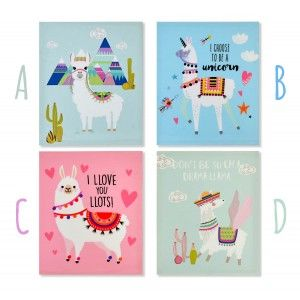 Box for Decoration of living Room and Bedroom, very Colorful. Design of Llama/Alpaca, with Modern style - Home and More