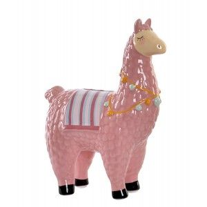Piggy bank Llama/Alpaca, and is made of Dolomite. Original design, with Child style (15cm X 19cm X 7.5 cm) - Home and More