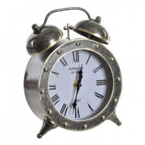Alarm clock Desktop-on-Metal, Ambient, Industrial and Decorative. Ideal for decorating Vintage/Realistic 17,5X7,5X22,5 cm