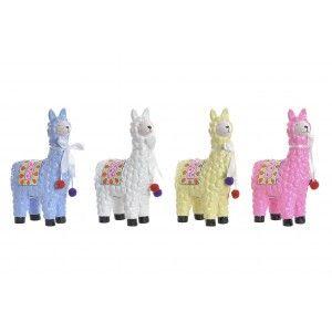 Hucha LLama/Alpaca de Porcelana, Hay 4 Colores a elegir. Original/Colorida de Estilo Infantil 12X6X19 cm.-Hogarymas-