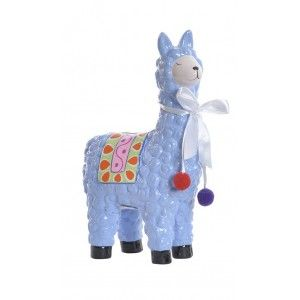 Piggy bank LLama/Alpaca made of Porcelain, There are 4 Colors to choose from. Original/Colorful-Style Child 12X6X19