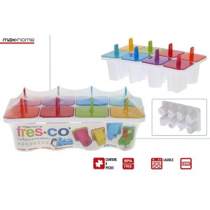 Mold Letters Ice cream/Poles, Reusable, Color, with 8 Letters. Design Child, with Cheerful style - Home and More