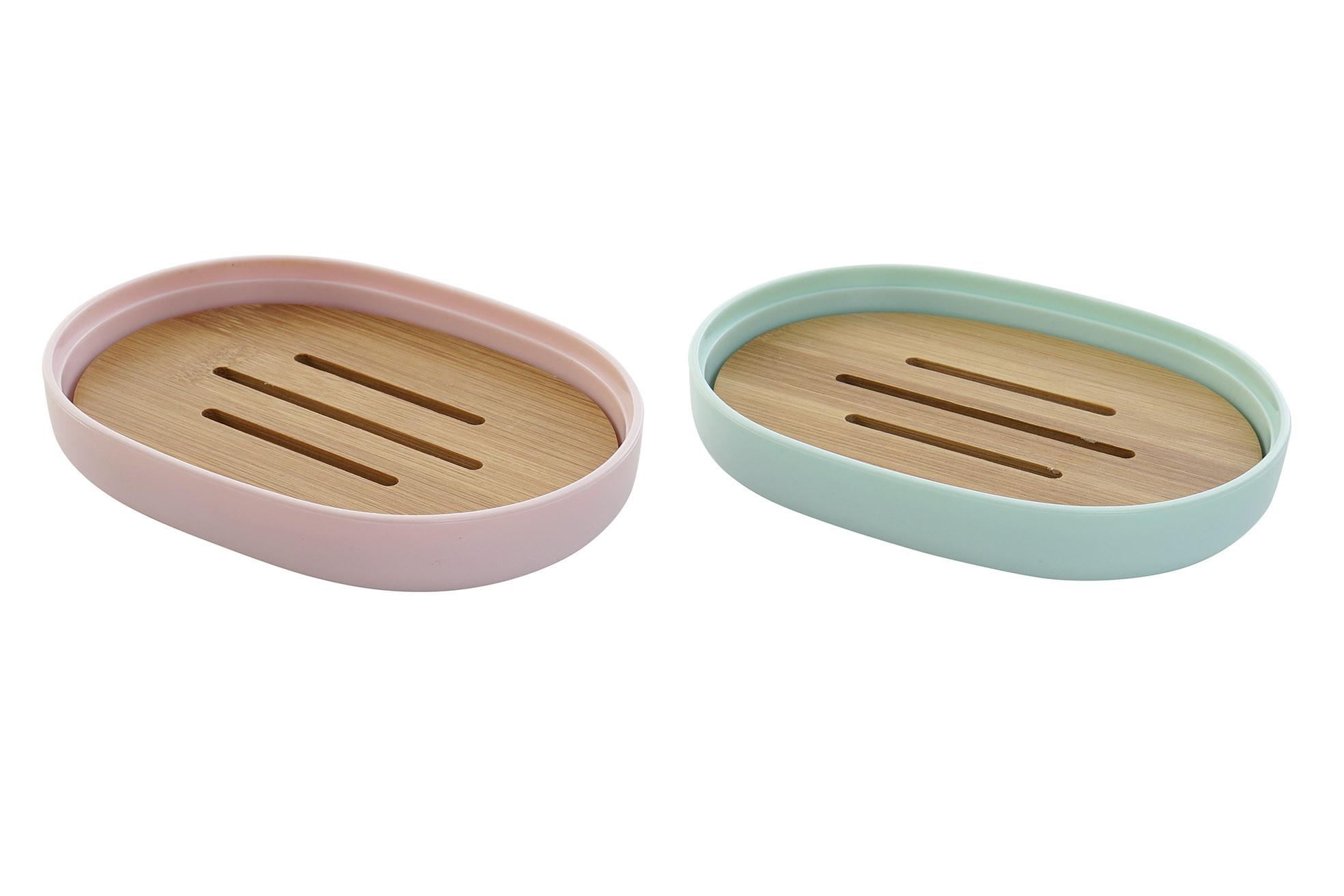 Jabonera Baño de Bambú, 2 Modelos a elegir. Diseño Original 13X9,5X2,5 cm.-Hogarymas-