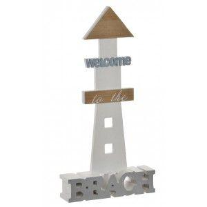 Lighthouse decorative Wooden Home Decoration Original, Marine-Style 17X4,5X34 cm-Hogarymas-