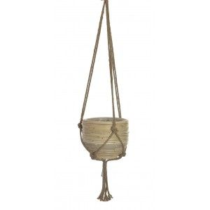 Planter Hanging Decorative Braided Wicker, for Indoor/Outdoor. Original design 27X27X20 cm