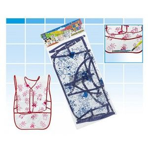 Apron for Children, color White, ideal for Painting. Unisex design, with style Child - Home and More