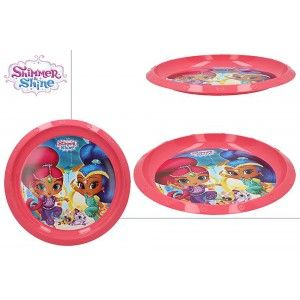 Flat plate Hard Plastic, Reusable, for Kids, Pink. Model Shimmer & Shine, with style Child - Home and More