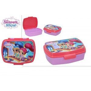 Sandwichera de Plástico Duro, Reutilizable, para Niños, Color Rosa. Modelo Shimmer & Shine, con estilo Infantil - Hogar y Más