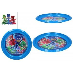 Flat plate Hard Plastic, Reusable, for Kids, Color Blue. Model PJ Masks, with style Child - Home and More