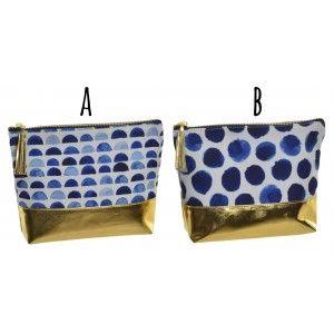 Neceser Viaje Mujer, 2 Originales Modelos a elegir. Diseño Elegante/Azul 21X6,5X16 cm.-Hogarymas-