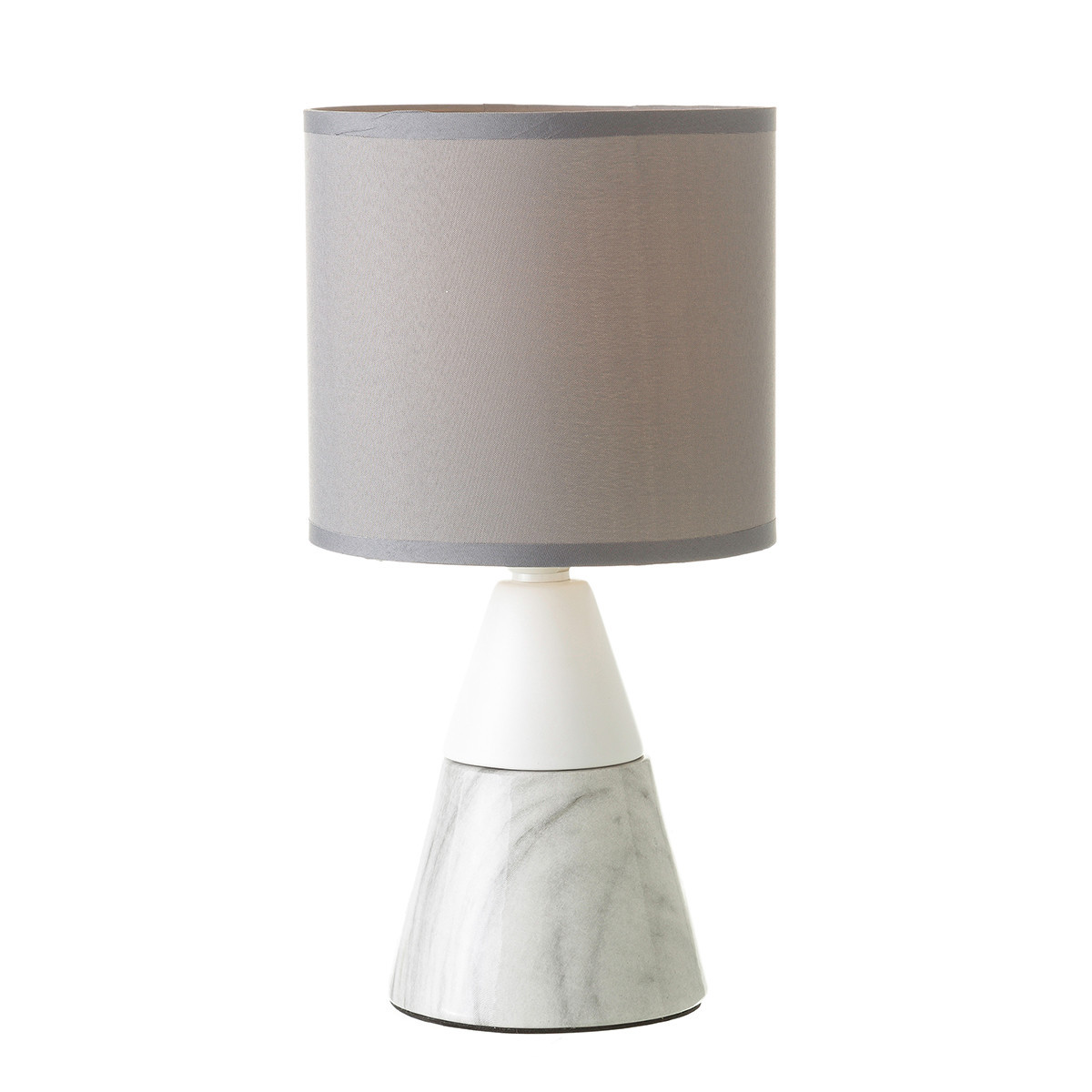 Table lamp, made of Ceramic, White and Grey. Design of Marble, with Modern style - Home and More