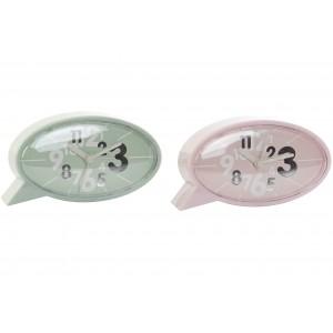Reloj Despertador de Sobremesa Moderno, Diseño Original/Abstracto. 2 Modelos a elegir 14X4X8 cm
