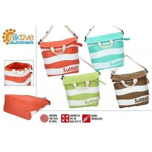 Beach bag Large with Zipper and Handle is Adjustable. Design Summery, with Modern style (58cm X 48cm X 19cm) - Home and More