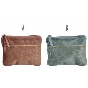 Bag Women Travel Velvet, 2 Models to choose from. Original design with Gold accents, 20X15 cm