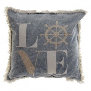 Pad Cotton with Fringes, ideal for Home Decoration. Design Marine/Original 45X45 630 GR.
