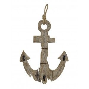 Coat rack Wall Anchor Decorative Wood, Home Decor Vintage. Design Sailor/Original 39X7X63,4 cm