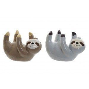 Hucha de Dolomite, con forma de Perezoso boca Arriba. Diseño de Animal, con estilo Infantil (17cm X 11cm X 9cm) - Hogar y Más