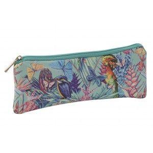 Bag Woman Travel, Tropical Design/Nature. Hygiene, Makeup, Toilet... 20X1,5X8 cm