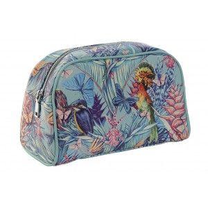 Neceser Mujer de Viaje, Diseño Tropical/Naturaleza. Higiene, Maquillaje, Aseo... 26X12,5X16 cm