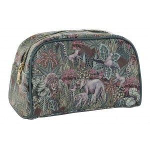 Neceser Mujer de Viaje, Diseño Jungla/Animales. Higiene, Maquillaje, Aseo... 26X12,5X16 cm