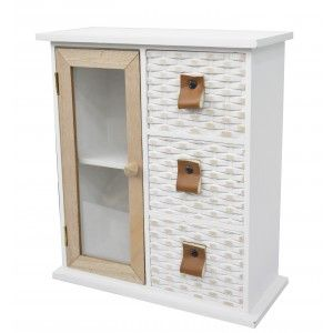 Chest of drawers/Jewellery box with 3 Drawers and Cupboard with 2 Shelves made of Wood. Ideal for Decorating and Storage