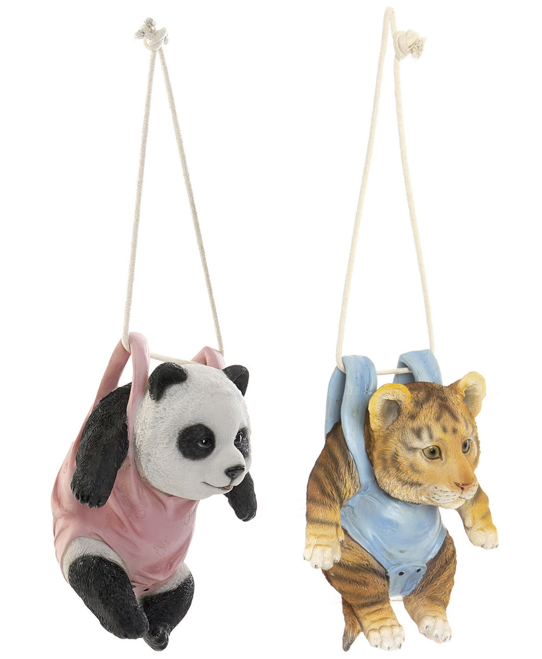Tiger/Panda Figure Decorative Pendant Infant of Resin for Indoor/Outdoor. Animal design and Realistic 16X12,5X20 cm