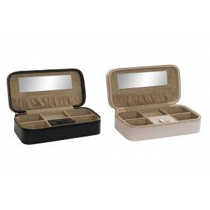 Jewellery box with Zipper and Mirror, 2 Models to choose from. Original design/Modern 24x12x7 cm