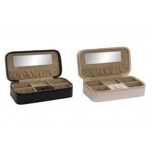 Joyero con Cremallera y Espejo, 2 Modelos a elegir. Diseño Original/Moderno 24x12x7 cm