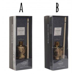 Difusor de Aromas 100 ml, Soporte de Cristal, 2 Modelos. Diseño Elegante/Moderno, Ideal para el Hogar 8x8x25 cm