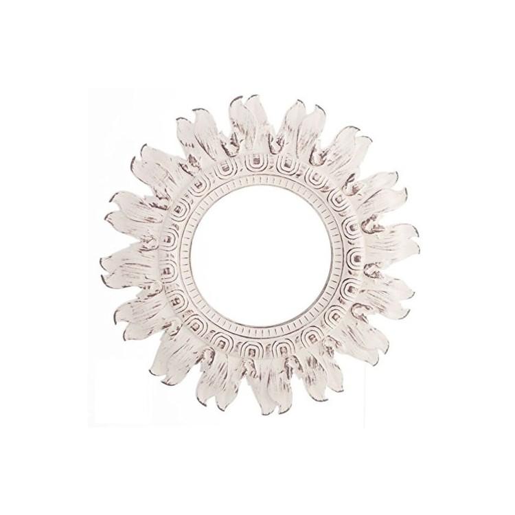 Lustro ścienne Dekoracyjne Okrągłe Kolor Biały Idealny Na Salonsypialnia Arabski Styl Styl Vintage W Domu I Więcej Hogar Y Más
