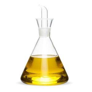 Aceitera Antigoteo, de Cristal Transparente, Rellenable, con capacidad de 500ML, ideal para Cocina. Diseño Original -Hogar y Más