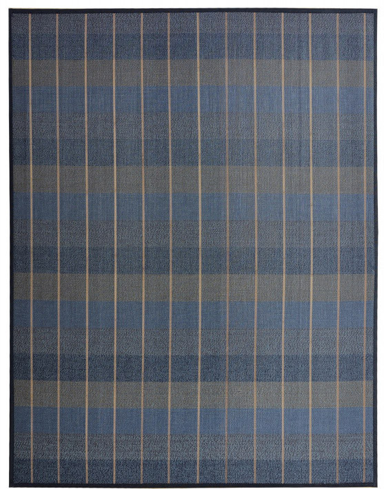 Carpet Natural Bamboo signature Oxford blue, grey and brown - Home and More