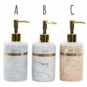 Soap dispenser 290 ml Kitchen/Modern Bathroom, of Dolomite. Marble, 7X17,5 cm