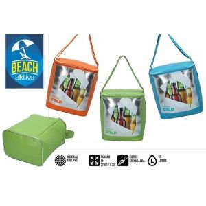 "Cooler Beach Bag, Isothermal. Zipped closure 15 litres of ""Very cold"" 40x33x35 cm"