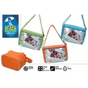 "Cooler Beach Bag, Isothermal. Zip closure 5 litres of ""Very cold"" 24x15x16 cm"