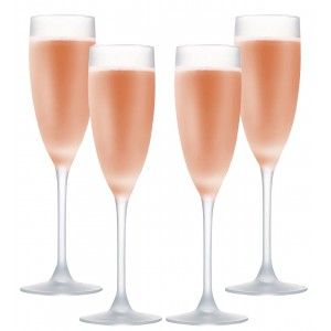 Glass of Rosé Wine 16Cl, Glass, Opaque, Matte, 4 You Elegant Crockery and Modern, Set of 4.