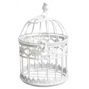 """Cage decoration metal """"Flowers"""" in Ivory color, Elegant and Modern Home and More"""