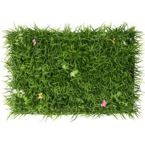 Vertical garden Artificial wall, Grass, Flowers and Butterflies, Decoration of Interior and Exterior, 40 x 60 cm - Home and More