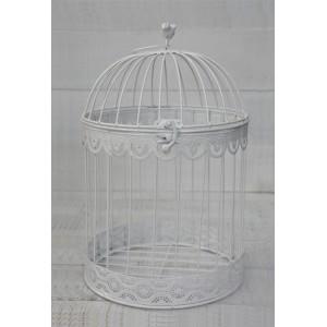 "White cage, Decorative Metal, Elegant, Original ""Bird"". Decor Cages, Wedding, Communion, Garden."